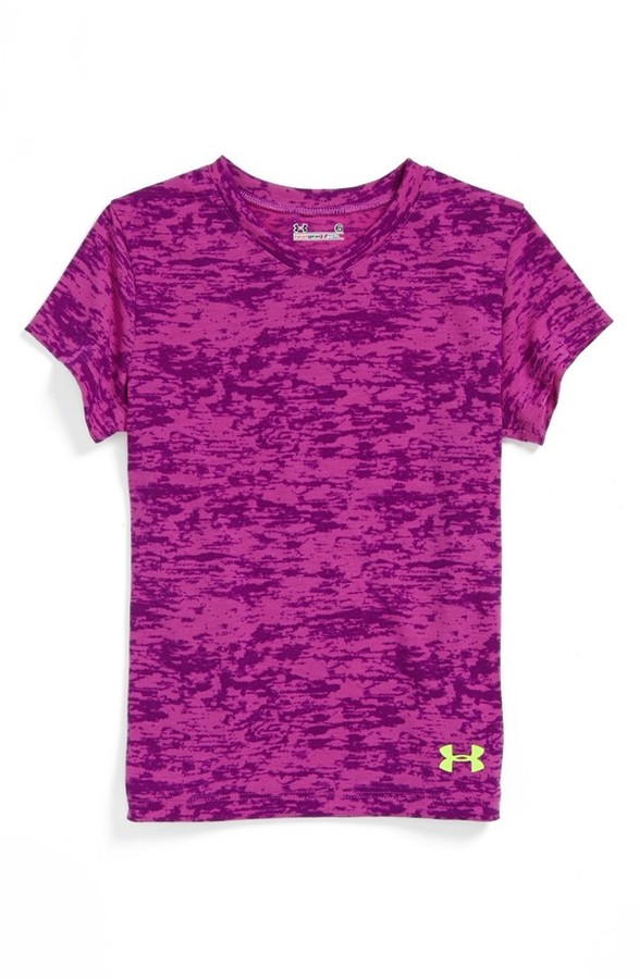 Under Armour 'Ice Camo' Tee (Little Girls)