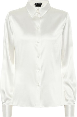 Tom Ford Stretch-silk satin shirt