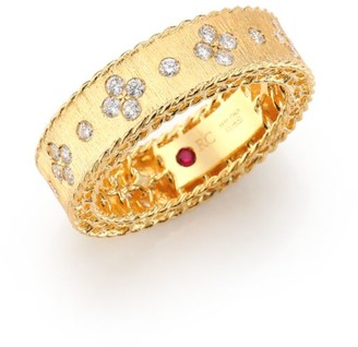 Roberto Coin Princess Diamond & 18K Yellow Gold Band Ring