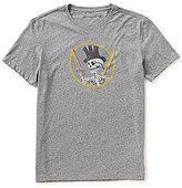 John Varvatos Top Hat Skull Crew Neck Short-Sleeve Graphic Tee
