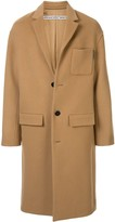 Alexander Wang brushed wool single-breasted coat
