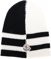 Moncler contrast knitted beanie hat - men - Virgin Wool - One Size