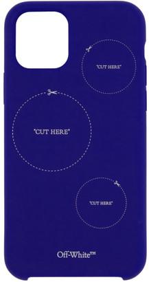 Off-White Blue Cut Here iPhone 11 Pro Case