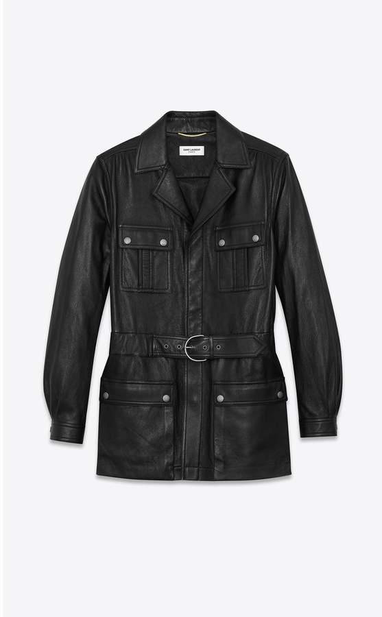 Saint Laurent Saharienne In Vintage Leather