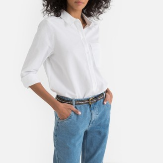 La Redoute Collections Loose Fit Boyfriend Shirt with Long Sleeves