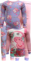 Peppa Pig Story Time 4 Piece Cotton Toddler Pajamas for girls
