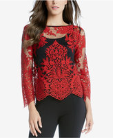 Karen Kane Embroidered Lace Top