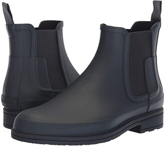 Hunter Refined Dark Sole Chelsea Boots (Black) Men's Boots