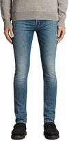 AllSaints Inkom Cigarette Slim Fit Jeans in Indigo Blue