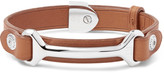 Dunhill Leather Silver-tone Bracelet - Tan