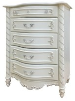 ACME Furniture Pearl Kids 5-Drawer Chest - Pearl White - Acme