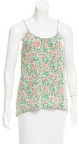Tucker Floral Print Silk Top