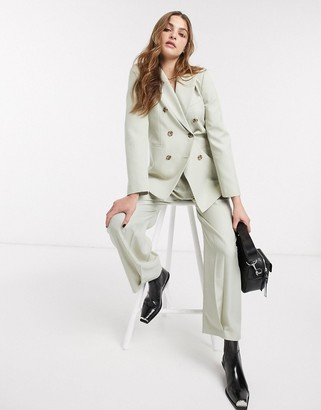 Topshop double breasted blazer co-ord in pale green