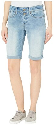NYDJ Briella Denim Shorts with Mock Fly and Roll Cuff in Biscayne (Biscayne) Women's Shorts