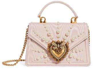 Dolce & Gabbana Large Faux-Pearl Devotion Shoulder Bag