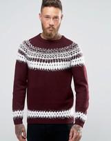 Asos Fairisle Sweater with Fluffy Yarn