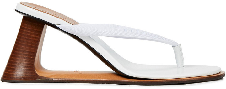 Marni Leather And Rubber Sandals