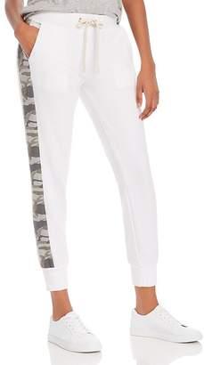 Monrow Sporty Camo-Stripe Sweatpants