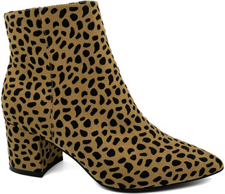 Bamboo Women's Casual boots CHEETAH - Tan Cheetah Rapid Boot - Women