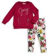 Juicy Couture Little Girl's Two-Piece Quilted Sweater and Leggings Set