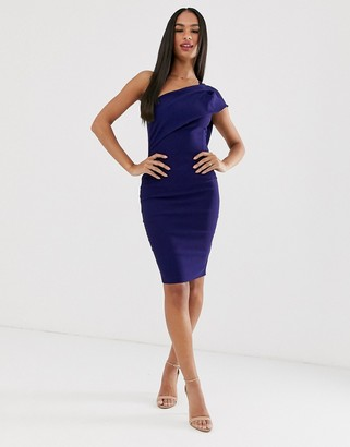 Vesper one shoulder pencil dress