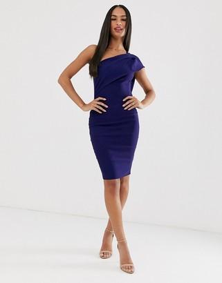 Vesper one shoulder pencil dress