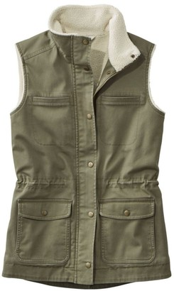 L.L. Bean Women's Classic Utility Vest, Sherpa-Lined