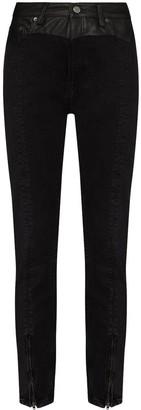 Ksubi Contrast-Waistband Skinny-Fit Jeans