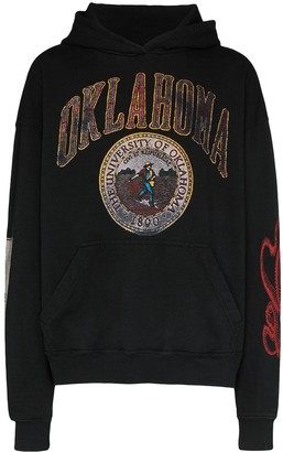 Rhude Oklahoma-print cotton hoodie