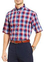 Daniel Cremieux Signature Non-Iron Windowpane Short-Sleeve Woven Poplin Shirt