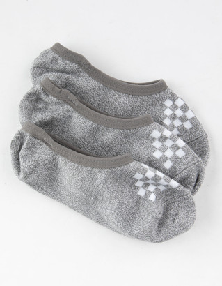Vans 3 Pairs Canoodle Super No Show Gray Girls Socks