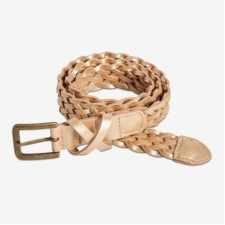 Joe Fresh Women's Braided Skinny Belt, Black (Size S)