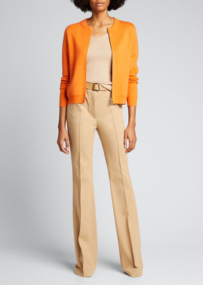 Akris Milano Stitched Wool-Blend Cardigan