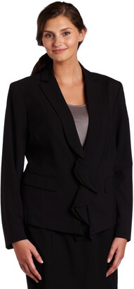 Anne Klein AK Women's Plus Size Zip Front Blazer