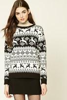 Forever 21 FOREVER 21+ Reindeer Fair Isle Sweater