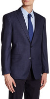 Tommy Hilfiger Ethan Blue Houndstooth Two Button Notch Lapel Suit Separates Jacket