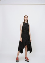 Proenza Schouler black sleeveless tie waist dress