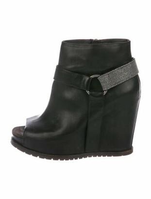 Brunello Cucinelli Leather Boots Black