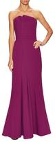 Halston Pleat And Gather Floor Length Dress