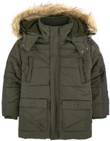 Mayoral Faux fur-lined padded coat
