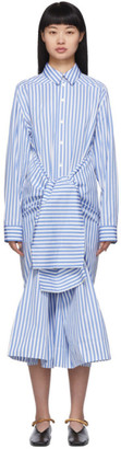 Jil Sander White and Blue Mattie Dress