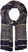 MICHAEL Michael Kors Marl Metallic Striped Muffler Scarves