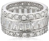 "Kenneth Jay Lane CZ by Classic Cubic Zirconia"" Rhodium-Plated Wedding Band , Size 7, 6 CTTW"