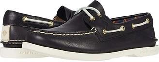 Sperry Authentic Original Plushwave Leather (Black) Women's Shoes