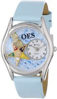 Whimsical Watches Women's S0710008 Order of the Eastern Star Baby Blue Leather Watch