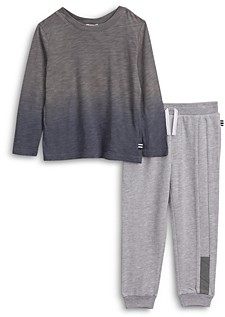 Splendid Boys' Dip Dye Long Sleeve Tee & Sweatpants - Little Kid