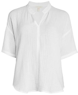 Eileen Fisher Crinkle Boxy-Fit Tunic
