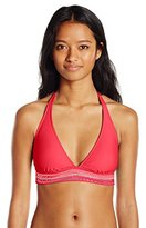 Hobie Women's A Stitch In Time Halter Bikini Top