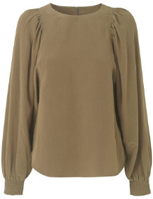 MBYM Olive Long Sleeve Retta Blouse small
