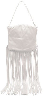 Bottega Veneta The Fringe Pouch Leather Shoulder Bag - White